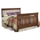 Carolina Furniture Crossroads Queen Slat Bed in Brown Cherry