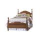 Carolina Furniture Crossroads Twin Panel Bed in Brown Cherry