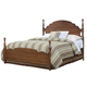 Carolina Furniture Crossroads Queen Panel Bed in Brown Cherry
