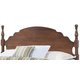 Carolina Furniture Crossroads King Panel Headboard with Bed Frame in Brown Cherry