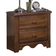 Carolina Furniture Crossroads 2 Drawer Nightstand in Brown Cherry 312200
