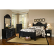 Carolina Furniture Carolina Midnight Cottage Bedroom Set in Black