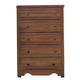 Carolina Furniture Crossroads 5 Drawer Chest in Brown Cherry 314500