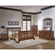 Carolina Furniture Crossroads 4 Piece Slat Bedroom Set in Brown Cherry