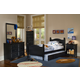 Carolina Furniture Carolina Midnight Cottage Bedroom Set w/ Trundle in Black