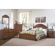 Carolina Furniture Crossroads 4 Piece Panel Bedroom Set in Brown Cherry