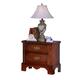 Carolina Furniture Classic 2 Drawer Nightstand in Cherry 342200