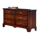 Carolina Furniture Classic Double Dresser in Cherry 345600