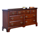 Carolina Furniture Classic Triple Dresser in Cherry 345700