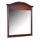 Carolina Furniture Classic Landscape Mirror in Cherry 346600