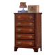 Carolina Furniture Classic 5 Drawer Chest in Cherry 344500