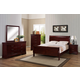 Crown Mark Furniture Louis Philip Bedroom Set in Cherry