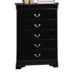Crown Mark Furniture Louis Philip Drawer Chest w/ Faux Marble B3788-4MBL