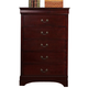Crown Mark Furniture Louis Philip Drawer Chest in Cherry B3800-4