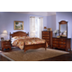 Carolina Furniture Classic 4 Piece Panel Bedroom Set in Cherry
