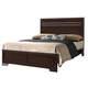 Crown Mark Furniture Landon Queen Bed in Dark Brown