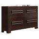 Crown Mark Furniture Landon Dresser in Dark Brown B6830-1