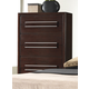 Crown Mark Furniture Landon Drawer Chest in Dark Brown B6830-4