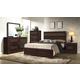 Crown Mark Furniture Landon Bedroom Set in Dark Brown