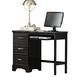Carolina Furniture Platinum Computer Desk in Black 501300