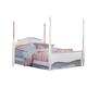 Carolina Furniture Cottage Twin Princess Bed in White