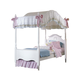 Carolina Furniture Cottage Full Canopy Princess Bed in White