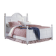 Carolina Furniture Cottage Queen Bed in White