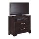 Carolina Furniture Carolina Signature Media Chest in Espresso 474200