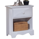 Carolina Furniture Cottage 1 Drawer Nightstand in White 412100 CLEARANCE