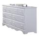 Carolina Furniture Cottage Triple Dresser in White 415700