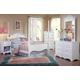 Carolina Furniture Cottage 4 Piece Princess Bedroom Set in White