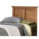 Carolina Furniture Sterling Twin Panel Headboard w/ Bed Frame in Clear Oak 4900