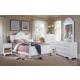 Carolina Furniture Cottage 4 Piece Bedroom Set in White