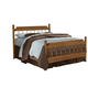 Carolina Furniture Creek Side Full Spindle Bed in Autumn Oak