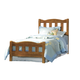 Carolina Furniture Creek Side Twin Splat Bed in Autumn Oak