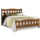 Carolina Furniture Creek Side Queen Splat Bed in Autumn Oak