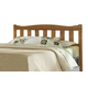 Carolina Furniture Creek Side King Splat Headboard with Bed Frame in Autumn Oak