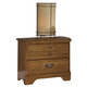 Carolina Furniture Creek Side 2 Drawer Nightstand in Autumn Oak 382200