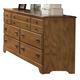 Carolina Furniture Creek Side Triple Dresser in Autumn Oak 385700
