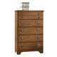 Carolina Furniture Creek Side 5 Drawer Chest in Autumn Oak 384500