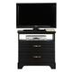 Carolina Furniture Platinum Media Chest in Black 504200