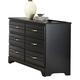Carolina Furniture Platinum Double Dresser in Black 505600