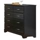 Carolina Furniture Platinum Black Tall Dresser 505800