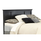 Carolina Furniture Platinum Twin Panel Headboard w/ Bed Frame Black 507430
