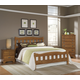 Carolina Furniture Creek Side 4 Piece Splat Bedroom Set in Autumn Oak
