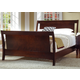 Ligna Port 4 Piece Sleigh Bedroom Set in Rose Brown