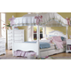 Carolina Furniture Cottage 4 Piece Princess Canopy Bedroom Set in White