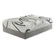 12 Series Memory Foam Queen Mattress in White M99231
