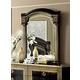 ESF Furniture Aida Mirror in Black w/ Gold