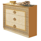 ESF Furniture Aida Single Dresser in Ivory w/ Gold